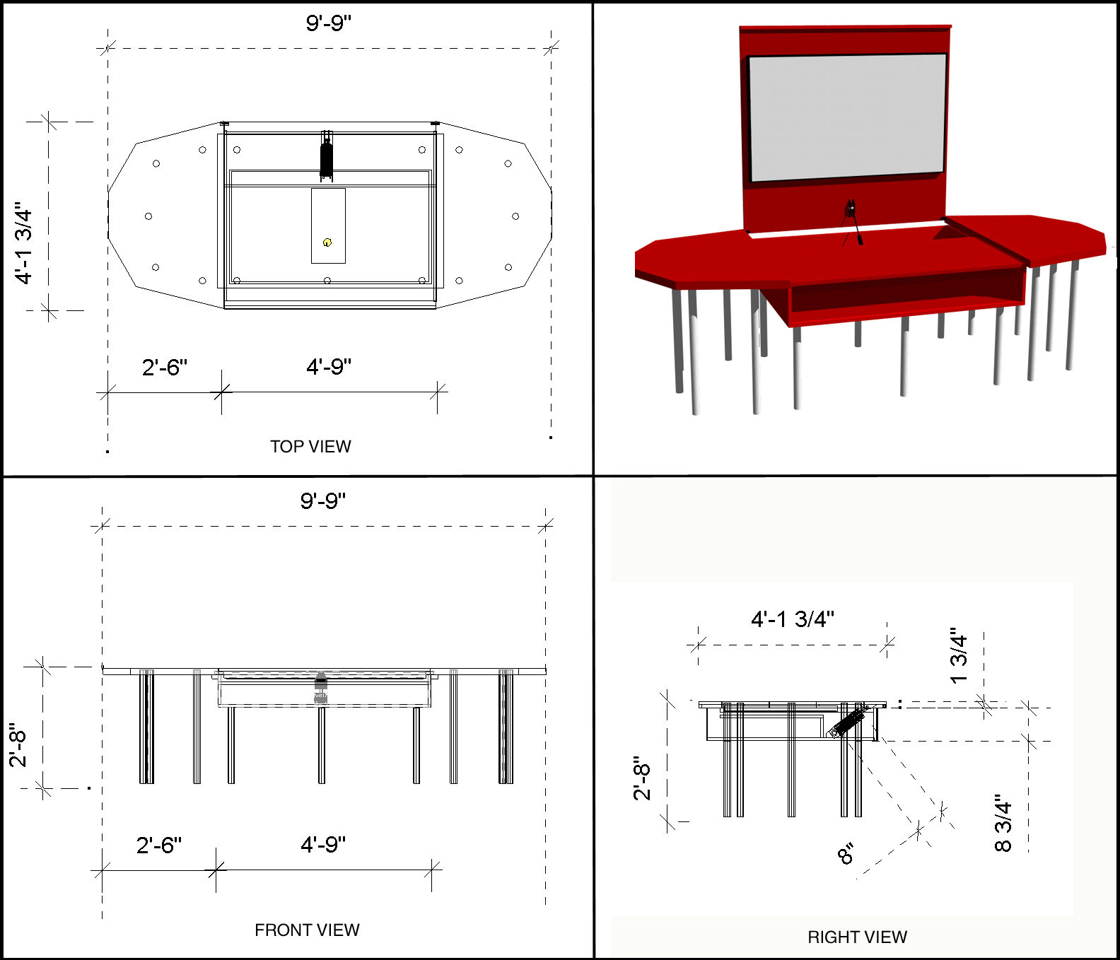 Conference Table Design With Built In Av Center And